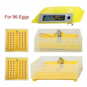 ZFF Egg Incubator Automatic Turning,96 Eggs Hatcher
